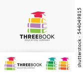 three books. vector logo... | Shutterstock .eps vector #544049815