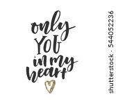 follow your dream hand... | Shutterstock .eps vector #544052236