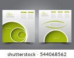 square flyer template. brochure ... | Shutterstock .eps vector #544068562
