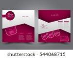 square flyer template. brochure ... | Shutterstock .eps vector #544068715