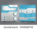 square flyer template. brochure ... | Shutterstock .eps vector #544068742