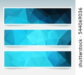 abstract blue  banner with... | Shutterstock .eps vector #544069036