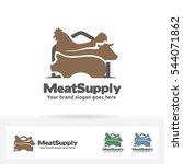 meat supply logo. beef  chicken ...   Shutterstock .eps vector #544071862