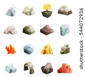 game art environment low poly... | Shutterstock .eps vector #544072936