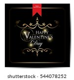 happy valentines day card | Shutterstock .eps vector #544078252