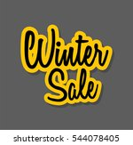 winter sale banner template... | Shutterstock .eps vector #544078405