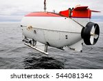 Submarine Researching Waters