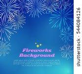 fireworks backgroundwith... | Shutterstock .eps vector #544084126
