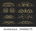 vintage decor elements and... | Shutterstock . vector #544086175