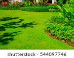 landscape formal  front yard is ... | Shutterstock . vector #544097746