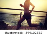 young fitness sports woman ... | Shutterstock . vector #544102882