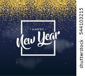 happy new year banner with... | Shutterstock .eps vector #544103215