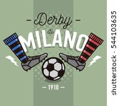 milanese derby label design. ...   Shutterstock .eps vector #544103635