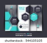 a4 document and brochure ... | Shutterstock .eps vector #544105105