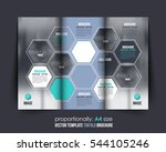 a4 document and brochure ... | Shutterstock .eps vector #544105246