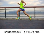 young fitness woman running at... | Shutterstock . vector #544105786