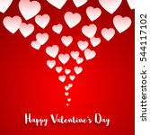 valentines day card. vector... | Shutterstock .eps vector #544117102