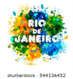 illustration of rio de janeiro... | Shutterstock .eps vector #544136452