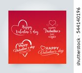 happy valentines day vector... | Shutterstock .eps vector #544140196