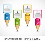 infographics template with... | Shutterstock .eps vector #544141252