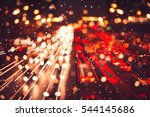 bokeh of evening traffic jam on ...   Shutterstock . vector #544145686