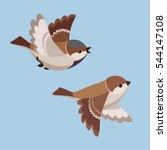illustration of two cartoon... | Shutterstock . vector #544147108