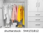 Collection Of Clothes Hanging...
