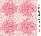 seamless floral wallpaper with... | Shutterstock . vector #544155016