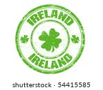 green grunge rubber stamp with...   Shutterstock .eps vector #54415585