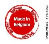 made in belgium label   Shutterstock .eps vector #54416353