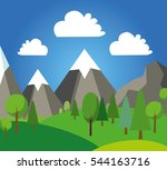 natural landscape in the flat... | Shutterstock .eps vector #544163716