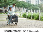 young asian nurse taking senior ...   Shutterstock . vector #544163866