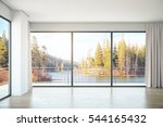 unfurnished concrete interior... | Shutterstock . vector #544165432
