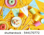 bright birthday background with ... | Shutterstock . vector #544170772