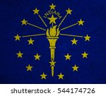 Small photo of graphic american state grunge flag of indiana