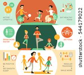 active healthy lifestyle...   Shutterstock .eps vector #544179022