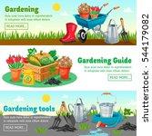 gardening horizontal banners... | Shutterstock .eps vector #544179082