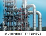 close up industrial view at oil ... | Shutterstock . vector #544184926