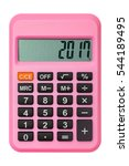 2017 numeric on pink calculator ... | Shutterstock . vector #544189495