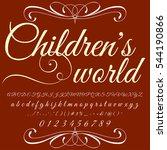 children's world font...   Shutterstock .eps vector #544190866