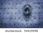 Spain. old door knocker - stock photo