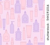 cosmetic bottles seamless...   Shutterstock . vector #544191016
