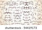 vintage borders | Shutterstock .eps vector #54419173