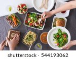 convenient takeaway takeout... | Shutterstock . vector #544193062