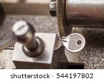 close view of key copying... | Shutterstock . vector #544197802