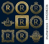 vintage monograms set of r... | Shutterstock .eps vector #544208236