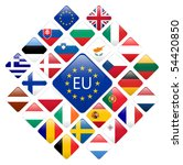vector set of european union... | Shutterstock .eps vector #54420850