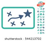 route plan icon with free bonus ... | Shutterstock .eps vector #544213702