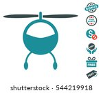 helicopter pictograph with free ... | Shutterstock .eps vector #544219918