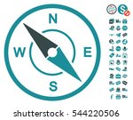 compass pictograph with free... | Shutterstock .eps vector #544220506